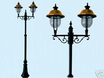 LAMPIONI VERONA 2 LUCI SU PALO LAMPIONE LANTERNE ILLUMINAZIONE ...