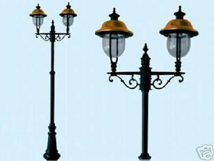 LAMPIONI VERONA 2 LUCI SU PALO LAMPIONE LANTERNE ...