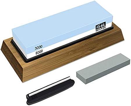 ✅ El KIT DE PIEDRA AFILAR MÁS COMPLETO - El contenido del paquete del afilador cuchillos viene con 1