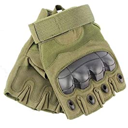 Mra Fashion Half Finger Outdoor Sports Bike Gloves Touch Screen for Men and Women (Green)
