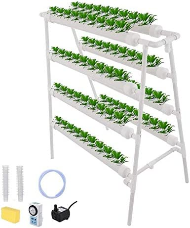 Matobuy 水耕栽培キット 72種類の植物用4層水耕栽培キット 両面8チューブ植栽システム 家庭用バルコニーの無土壌栽培機器 トマト レタス 水菜など野菜育てる 室内と家庭菜園自作