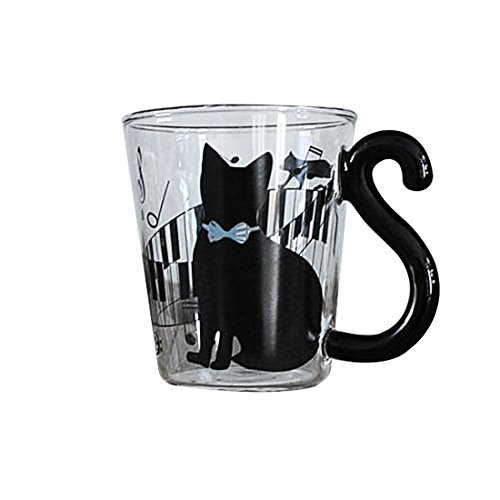 Lovely Creative Cat Design Glass Mug