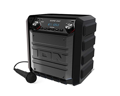 Ion Tailgater Express Game Day 50-Watt Portable Rechargeable Bluetooth Wireless 2-Way Speaker System with FM Radio, USB charge Port and Aux Input, Black (Certified Refurbished) by Ion