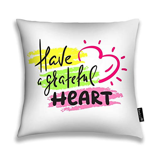 Randell Throw Pillow Covers Have Grateful Heart Home Decorative Throw Pillowcases Couch Cases 20
