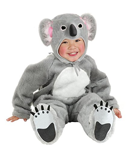 Charades Little Koala Bear Baby Costume Baby Costume, -Grey, - Felted Baby Booties