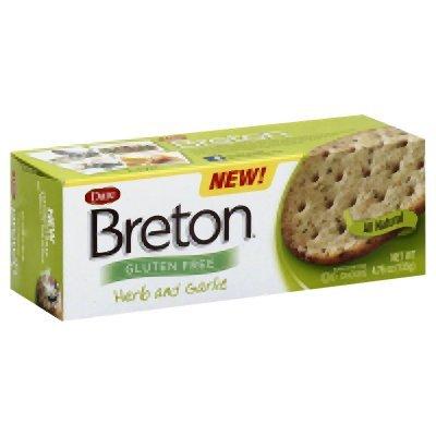 Breton Herb & Garlic Crackers, Gluten Free 4.76 Oz (Pack of 6)