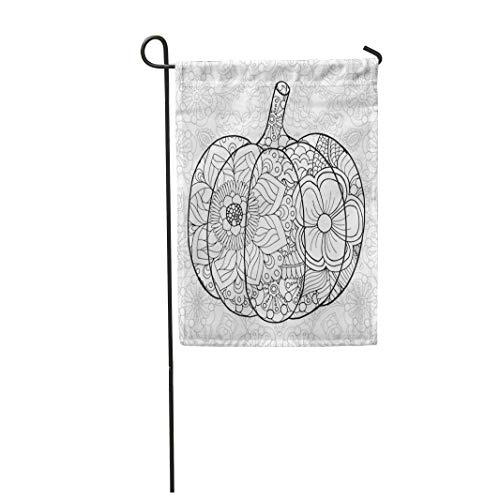 Tarolo Decoration Flag Zentangle Pumpkin Black White Traditional