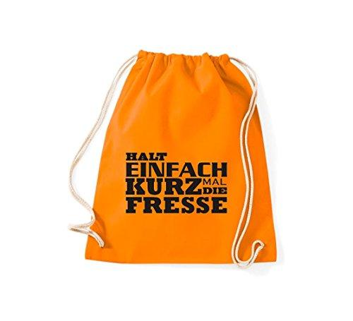 Shirtstown - Bolso de tela de algodón para mujer naranja