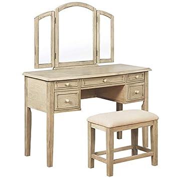 Stupendous Amazon Com Powell Kara 2 Piece Vanity Set In Whitewash Spiritservingveterans Wood Chair Design Ideas Spiritservingveteransorg