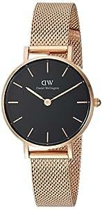 Daniel Wellington Women's Watch Classic Petite Melrose in Black 28mm