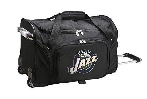 NBA Utah Jazz Wheeled Duffle Bag by Denco