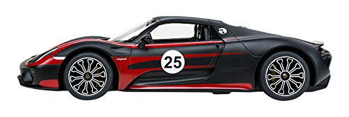 Carmel 47620W 1: 14 Porsche 918 Spyder Performance USB Charger 2.4Ghz with Lights Rechargeable Battery, Black Decals by Carmel