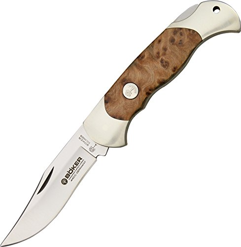 (Boker 112002TH Thuya Lock Blade Hunter Pocket Knife with 3-3/8 In. Straight Edge Blade )