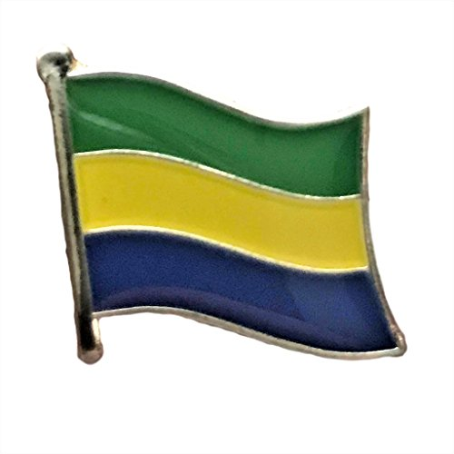 "Backwoods Barnaby Gabon Flag Lapel Pin/International Travel Pins Collection (0.75"" x 0.75"")"