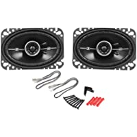Pair Kicker DSC46 4x6 D-Series 2-Way Coaxial Car Speakers (11DSC46)
