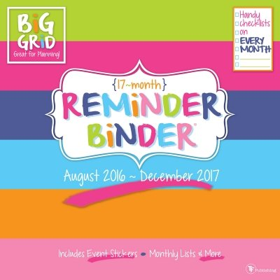 TFB171101 - TF PUBLISHING 2017 Reminder Binder 17 Month Wall Calendar