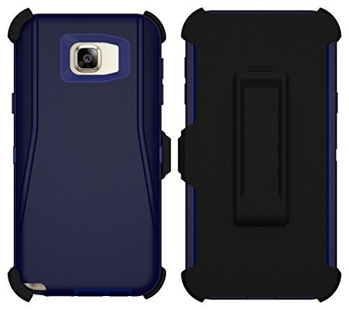 cheap for discount 863cc e7552 Galaxy Note 5 Case, Caseologist [Armor Series] [Shockproof] [Navy Blue] for  Samsung Galaxy Note 5 Case [Built in Screen Protector] [Holster & Belt ...