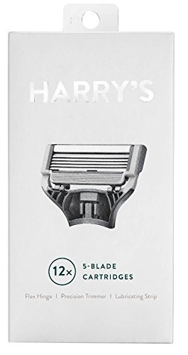 Harrys Razor Blades (3 Packs of 4) in Durable Hinged Water Friendly Travel Cases by Harry's