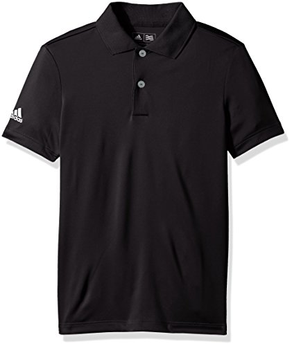 Adidas – Boys B Performance Polo de Golf, Negro, Mediano