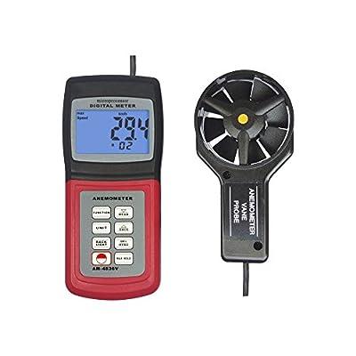 Landtek Multifunctional Digital Anemometer AM-4836V Air Velocity, Wind Speed, Temperature Measurement 0.4~45.0m/s ( meters/sec )