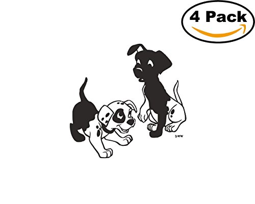 101 Dalmatians 4 Stickers 4x4 Cartoon Car Bumper Window Sticker Decal_101