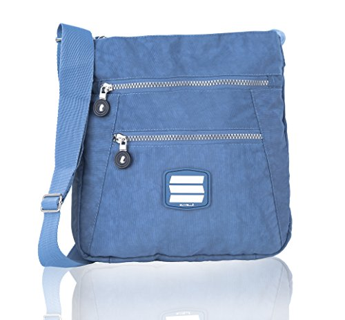 Suvelle Lightweight Go-Anywhere Travel Everyday Crossbody Bag Multi Pocket Shoulder Handbag 20103