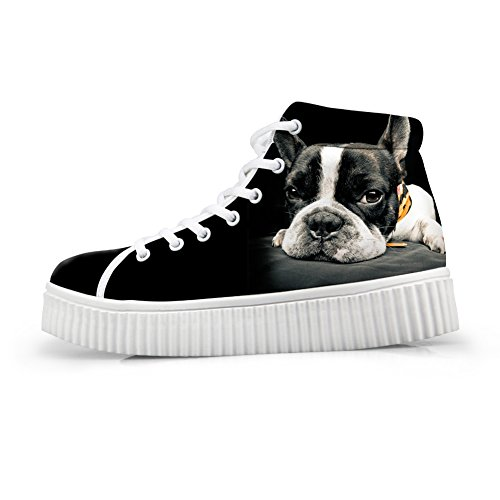 Câlins Idée Mignon Animal Plateforme Dimpression Chaussures Mode Sneakers Bouledogue Français