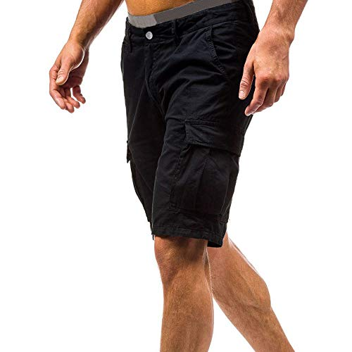 - Men's Classic Relaxed Fit Cargo Shorts Casual Cotton Outdoor Sports Work Lightweight Combat Cargo Trousers by JUSTnowok Black