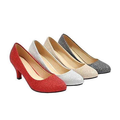 Chaussures Femme Escarpins Glisser Vazgrt D toecm Noir 6 Sur Vaneel Round fxq8w4Zw6