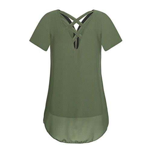 Armeegrün Sommer T Tank Shirt Damen Reißverschluss DOLDOA Tops Oberteile 7 Frauen P6z6xwdq