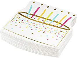 Paquete de 50 servilletas de papel desechables con diseño de ...