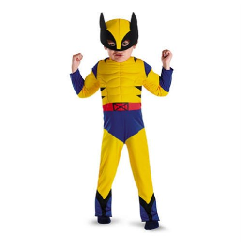 [Marvel Comics Toddler & Boys Wolverine Muscle Costume with Mask 2T] (Baby Wolverine Costume)