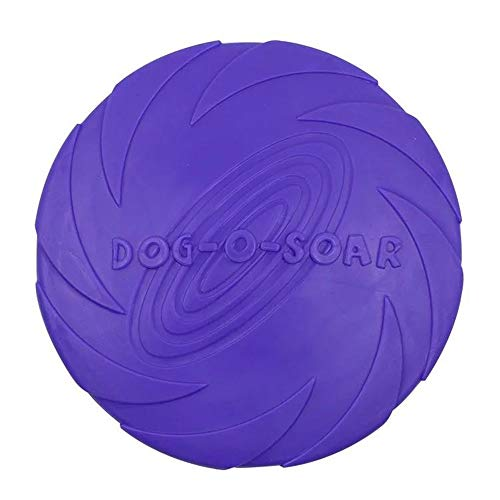 WIEZ Dog Frisbee Toy,Dog Trainer,Floating Water Dog Toy,Flying Disc,1pcs (Purple)