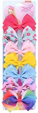 MORECON Cute Sweet Children's Princess Crown Bow Set of 7 Sets Hair Clip Jewelry (7pcs/Set) – The Super Cheap