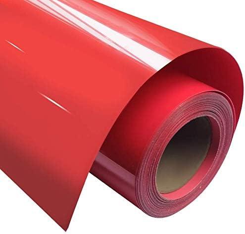 CMXX 1 Roll Vinyl Transfer, Heat-On Heat Transfer para Camiseta, Sombreros, Ropa, Prensa de Calor, sublimación Artesanal (23,6 Pulgadas X 9.8 Pies) Red: Amazon.es: Hogar
