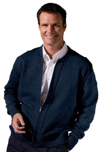 Edwards Value Zipper Cardigan With Tuff-Pil Plus, NAVY, (Mens Zip Front Cardigan)