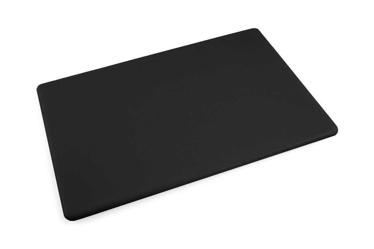 Commercial Plastic Black Cutting Board, NSF, 18 x 12 x 0.5 inches