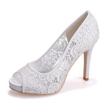 CN42 Toe Pink Evening Party 8 US9 Wedding Ivory White 10 UK7 Black 5 amp;Amp; Heel EU41 Sandals Peep Women'S Shoesstiletto 5 gvt4wqgR
