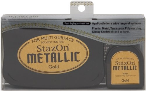 Tuskineko Stazon Metallic Ink Kit, Gold