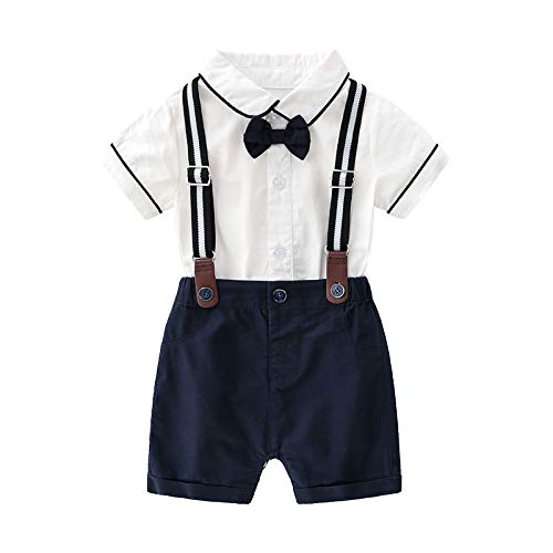 Amazon.com: Camisa estampada azul para bebés, pantalones ...