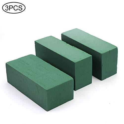 3PCS Floral Foam Bricks, Florist Flower Styrofoam Green Bricks Flower Arrangement Brick Supplies for Florist Craft