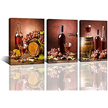 Wine Glass FOOD /& DRINK  Canvas Art Print Box Framed Picture Wall Hanging BBD