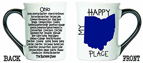 Cottage Creek Ohio Mug Large 18 Ounce Ceramic Ohio State Map Coffee Mug/Ohio Gifts [White]