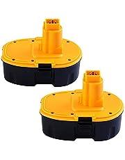 2 pack 18V 3.0Ah Ni-Mh vervanging voor Dewalt Accu DC9096 DE9039 DE9095 DE9096 DE9098 DW9096 DW9095 DW9098 Snoerloos elektrisch gereedschap