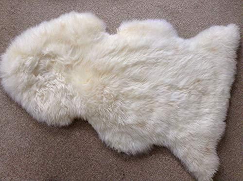 (A-ReBorn (TM) Real Ivory White Sheepskin Rug Single Pelt Genuine Sheep Skin Soft Fur, 2 X 3)