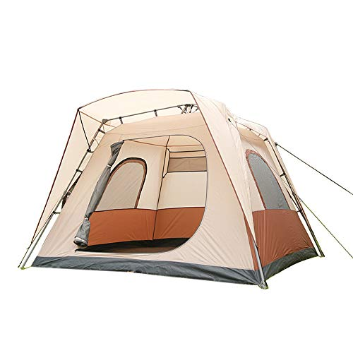 YANKK Camping Tents for 5-8 Persons, 1 Bedroom Family Dome Tent, PU2000MM waterproof Camping Tent Sewn in Groundsheet…