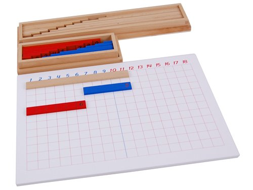 Kid Advance Montessori Subtraction Strip Board