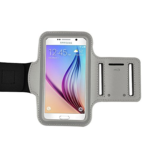 (Active Sports Armband Case for Samsung Galaxy S5 S 5 SV / S4 / S3 and more SAMSUNG smartphine (Gray))
