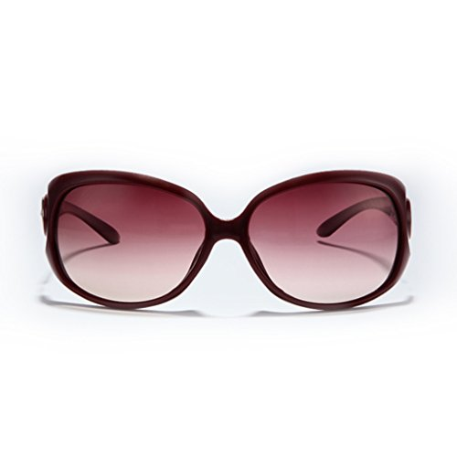 de Brown Fashion pour Soleil Retro YaNanHome de Lunettes de Color UV Lunettes Femmes Trendy Red Polarisées Lunettes Soleil Soleil Tx6Sq