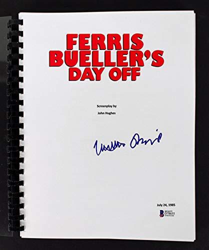Matthew Broderick Signed Ferris Bueller's Day Off Movie Script BAS #D78655